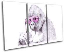 Monkey Mask Banksy Painting - 13-1426(00B)-TR32-LO
